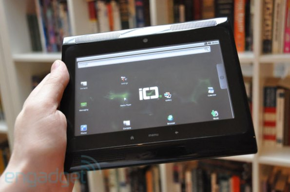 Image of a tablet running Android